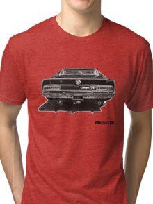 Australian muscle car R/T Valiant Charger back side black Tri-blend T-Shirt