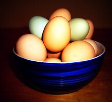 Eggs in Bowl by Susan S. Kline