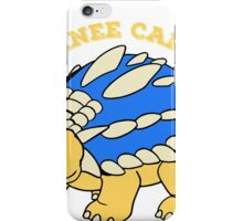 The gangster ankylosaurus regulates iPhone Case/Skin