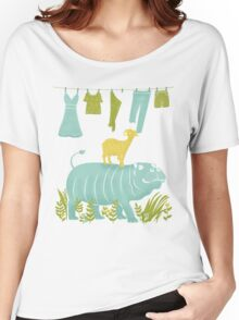 Humphrey the Hippo and the Cameroon Mountain Goat Women's Relaxed Fit T-Shirt