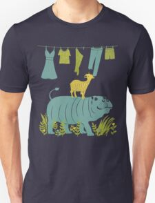 Humphrey the Hippo and the Cameroon Mountain Goat Unisex T-Shirt