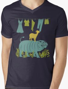 Humphrey the Hippo and the Cameroon Mountain Goat Mens V-Neck T-Shirt
