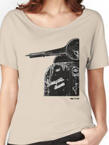 Vespa Super 1960 Piaggio front black Women's Relaxed Fit T-Shirt