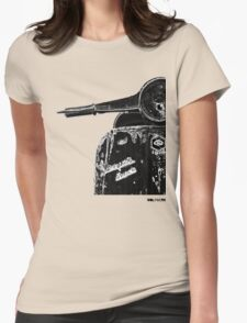 Vespa Super 1960 Piaggio front black Womens Fitted T-Shirt