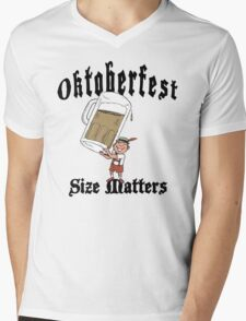 "Funny Oktoberfest ""Size Matters"" Mens V-Neck T-Shirt"