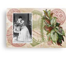Steampunk Victorian Floral Corset Canvas Print