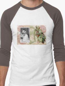 Steampunk Victorian Floral Corset Men's Baseball ¾ T-Shirt