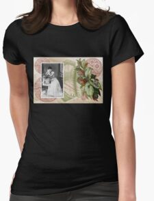 Steampunk Victorian Floral Corset Womens Fitted T-Shirt