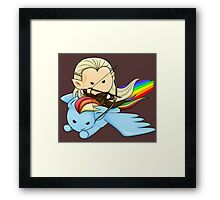 Legolas & Rainbow Dash Framed Print