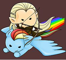 Legolas & Rainbow Dash Photographic Print