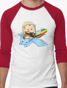 Legolas & Rainbow Dash Men's Baseball ¾ T-Shirt