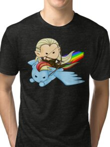 Legolas & Rainbow Dash Tri-blend T-Shirt