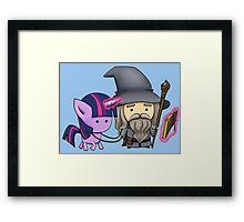 Gandalf the grey & Twilight Sparkle Framed Print