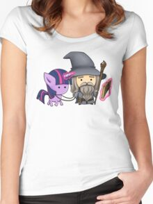 Gandalf the grey & Twilight Sparkle Women's Fitted Scoop T-Shirt