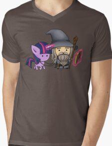 Gandalf the grey & Twilight Sparkle Mens V-Neck T-Shirt