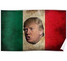Mexican Donald Trump Flag Poster