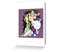 Aragorn, Arwen & Rarity Greeting Card