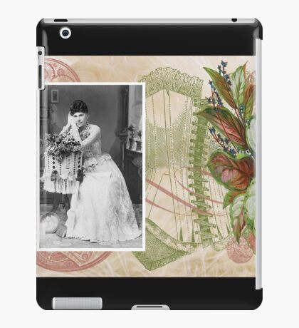 Steampunk Victorian Floral Corset iPad Case/Skin