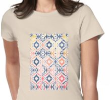 Tropical Ikat Damask Womens Fitted T-Shirt