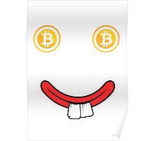 Funky Bitcoin Smiley Poster