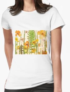 Floral Sunshine Womens Fitted T-Shirt