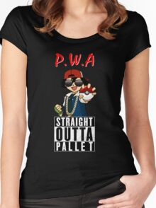 Straight Outta Pallet Women's Fitted Scoop T-Shirt
