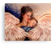 Angel Mother Metal Print