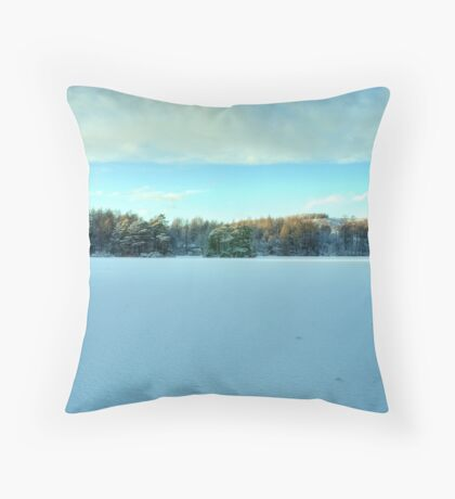 The Snowfield Throw Pillow
