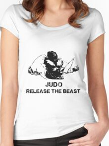 JUDO RELEASE THE BEAST Women's Fitted Scoop T-Shirt