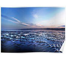 Blue sunset, Sandymount Strand, Dublin, Ireland 1 Poster