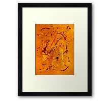 Abstract #2 Red Flame Framed Print