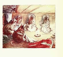 The Tailor of Gloucester Beatrix Potter 1903 0066 Mice Sewing Around a Candle by wetdryvac