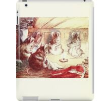 The Tailor of Gloucester Beatrix Potter 1903 0066 Mice Sewing Around a Candle iPad Case/Skin
