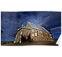 CHURCH ON THE HILL -DALGETY NSW AUSTRALIA Poster