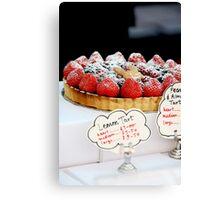 Berry tart Canvas Print