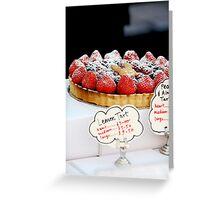 Berry tart Greeting Card