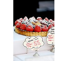 Berry tart Photographic Print
