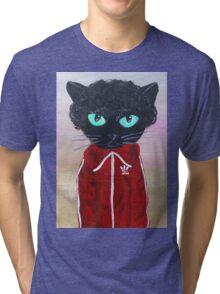 Chas Tenenbaum Black Cat Adidas  Tri-blend T-Shirt