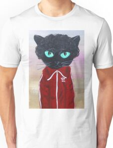 Chas Tenenbaum Black Cat Adidas  Unisex T-Shirt
