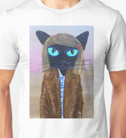 Anderson Tenenbaum black cat  Unisex T-Shirt