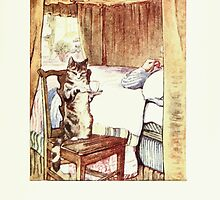 The Tailor of Gloucester Beatrix Potter 1903 0075 Cat Bringing Tailor Tea by wetdryvac