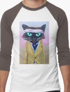 Anderson Tenebaum black cat Men's Baseball ¾ T-Shirt