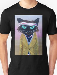 Anderson Tenebaum black cat T-Shirt