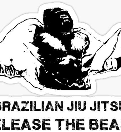 BRAZILIAN JIU JITSU RELEASE THE BEAST Sticker
