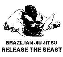 BRAZILIAN JIU JITSU RELEASE THE BEAST Photographic Print