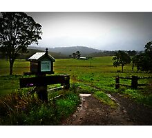 Letter box on isolated farm. Photographic Print