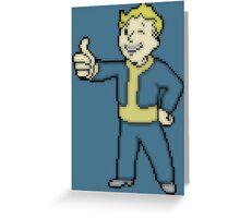 Pixel Vault Boy Greeting Card