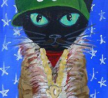 OutKast rapper hip hop Atlanta black cat by MuertoCupcake