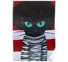 OutKast Atlanta black cat hip hop Poster