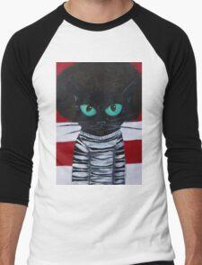 OutKast Atlanta black cat hip hop Men's Baseball ¾ T-Shirt
